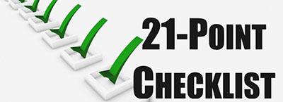 21 Point Checklist