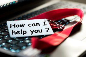 how can i help you customer representative concept