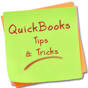 QuickBooks Tips and Tricks Post It Note