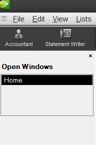 Sidebar in QuickBooks